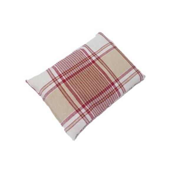 1 Stück Reissäckchen, rot, weiß, kariert, Reislagerungssäckchen, Variante mit waschbarem Bezug möglich, Skolioseerkrankung, Wärmesäckchen, für Motorik und Gleichgewichtsübungen, Reiskissen Bild 1