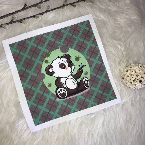 Panda Schmetterling  Panel  Polyester sublimiert