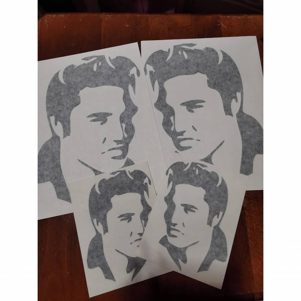 Elvis Presley Vintage Sticker, Autoaufkleber, schwarz Bild 1