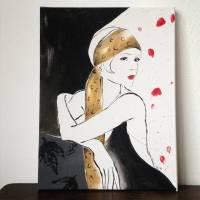 Twenties Girl handgemalt - Einzelstück Bild 1