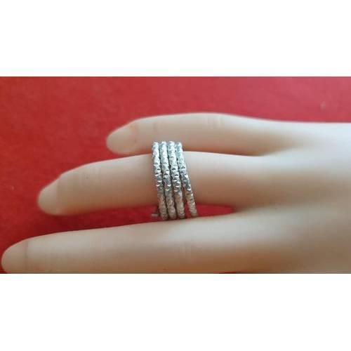 Ring 2 Farbig aus Aluminium-Draht Muschel