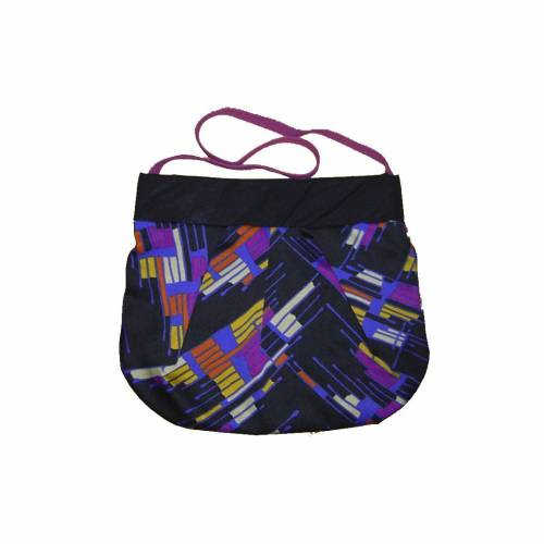 Tasche bunt-gestreift Retromuster, Shopper