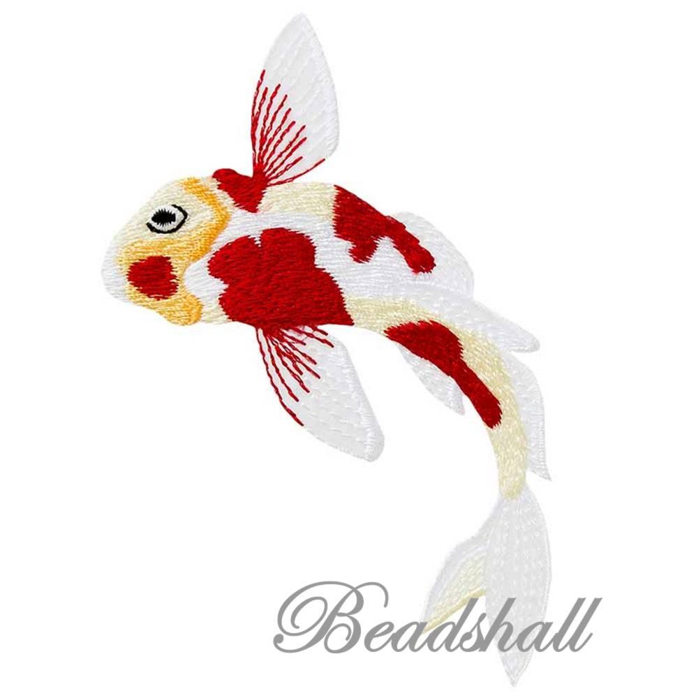 Bügelbild Koi Applikation Fisch Aufnäher Bild 1