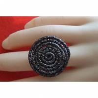 Ring aus Aluminium-Draht Schneckenform Bild 1