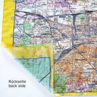 BERLIN TUCH Seide Baumwolle, Berliner Stadtplan, DDR Karte 1960er Jahre Bild 9