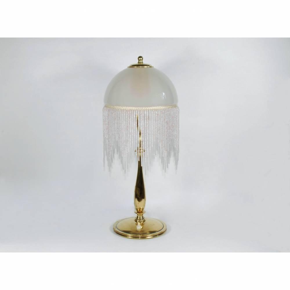 UNIKAT Perlen Tischlampe 49 cm Bild 1