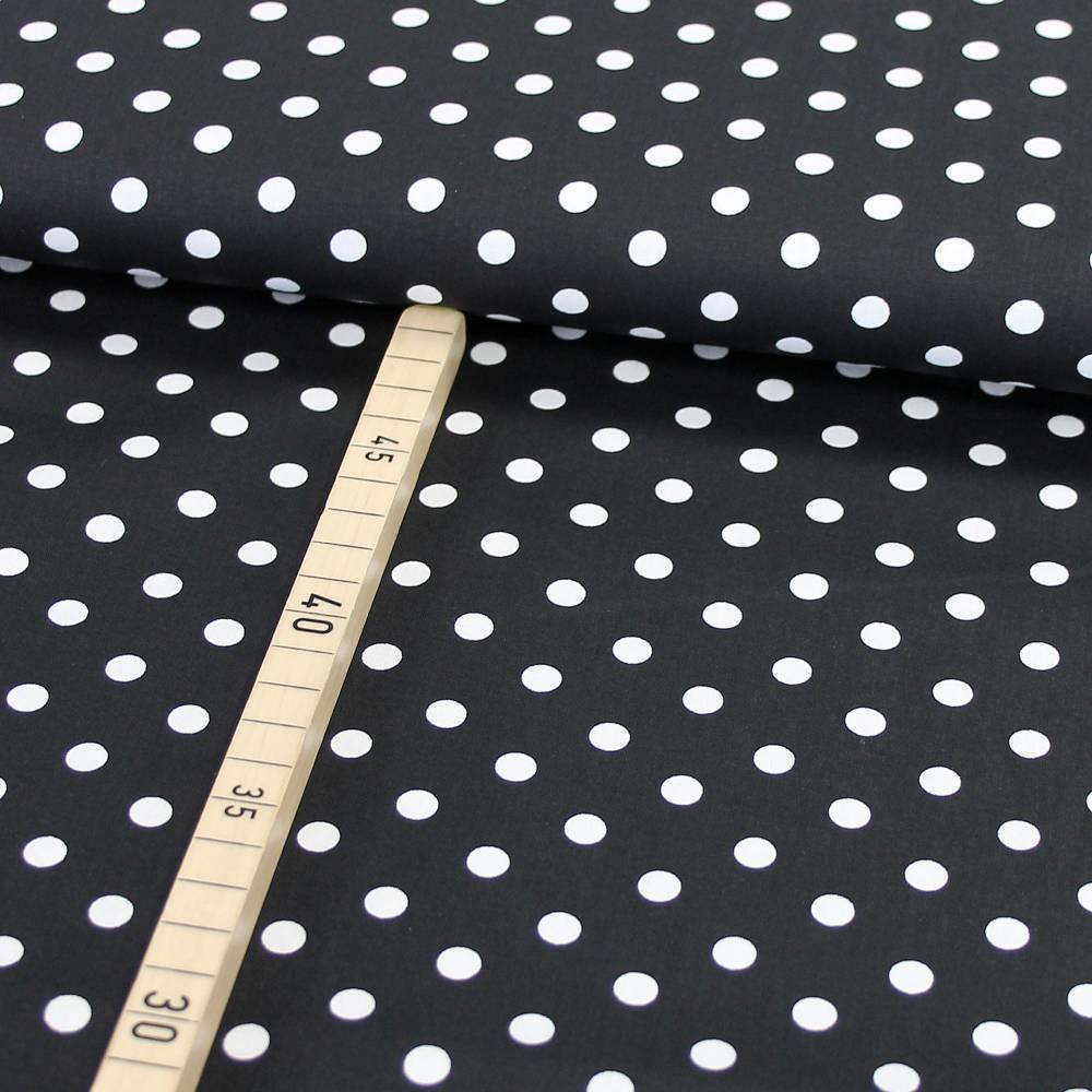 Baumwolle Punkte auf schwarz Bild 1