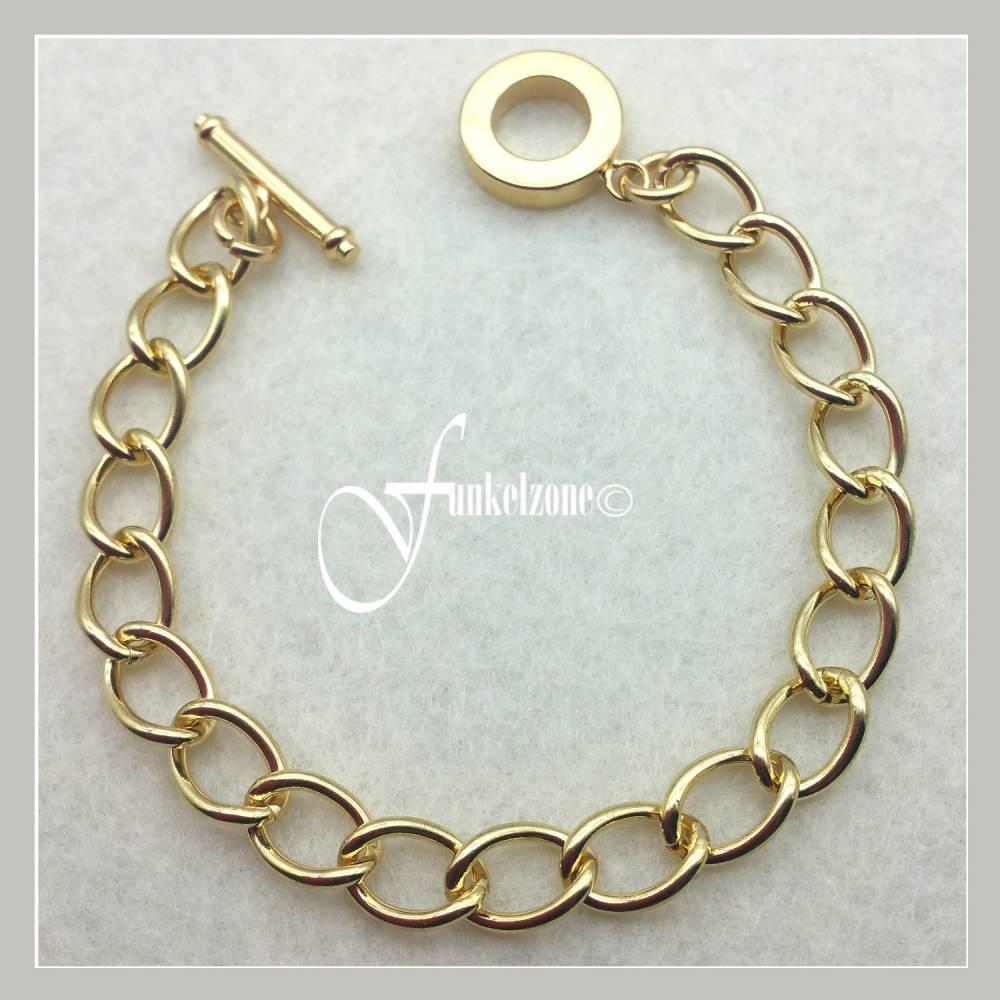Gliederarmband mit Verschluss | 20cm | goldfarben | KNORR prandell | #2233 974 Bild 1