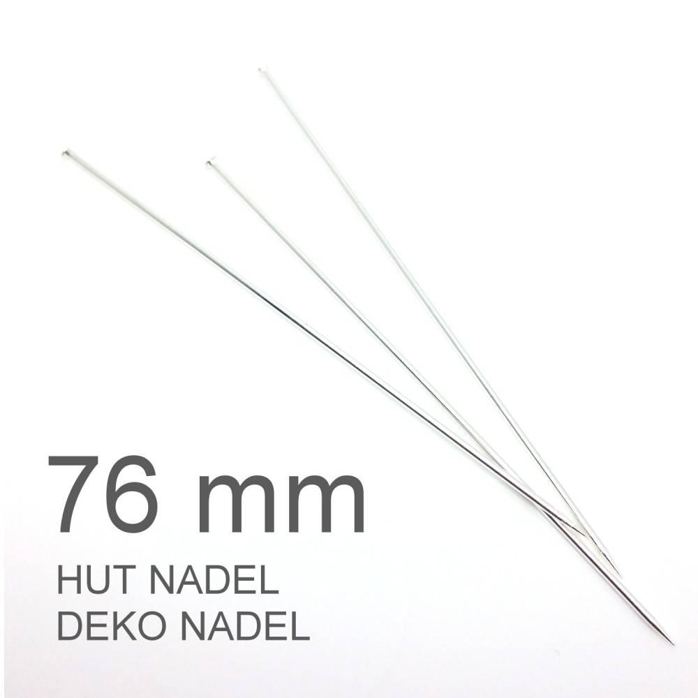 Hutnadeln | Dekonadeln | Pin | Nadel mit Spitze | L: 76 mm | silber beschichtet | N2R108S | AUSWAHL Bild 1
