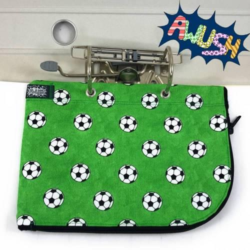 Ordnermäppchen, Grün Fußball, abheftbar