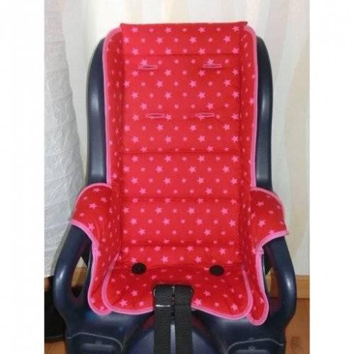 ERSATZBEZUG AUFLAGE passend für Jockey Relax Fahrradsitzbezug Sterne rosa rot