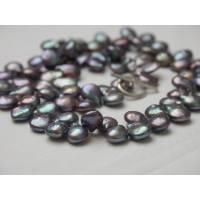 Perlenschmuck Perlencollier Perlenkette echte schwarze Perlen extravagante Tropfenperlen mondän Abendschmuck Bild 3