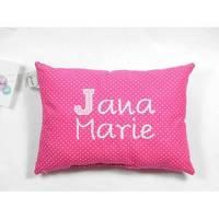 Namenskissen pink klein, Kissen mit Namen, pink, personalisiert, mit Name, Kissen klein Bild 1
