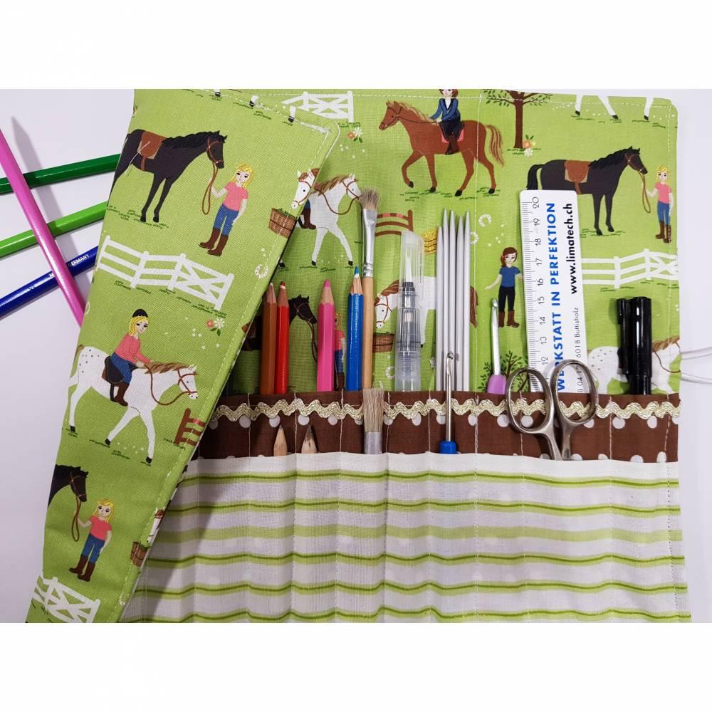 Stifterolle 28 Fächer Pferde Rollmäppchen Einschulung  Bild 1