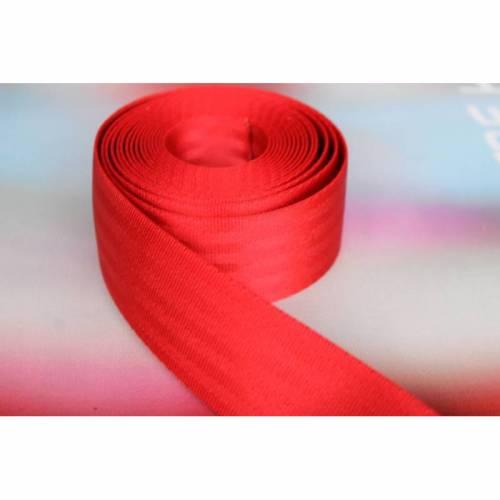1m Sicherheitsgurtband, 38mm breit, rot
