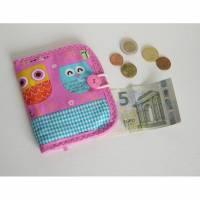 Kindergeldbeutel, Stoffgeldbeutel für Kinder, Taschengeld, Geldbörse Eule, Geldbeutel, Geldbeutel aus Stoff, Kinder-Geldbeutel Eule, Tiere, Bild 1