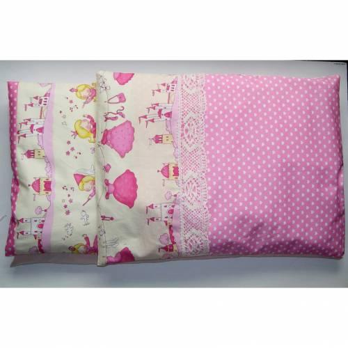 Puppenbettzeug, Matratze, Puppenkissen 5-teilig, Kissenbezüge, Wende-Bettwäsche, nach  Maß, Bettwäsche, Puppenbett, Bettwäsche, Puppenwagen