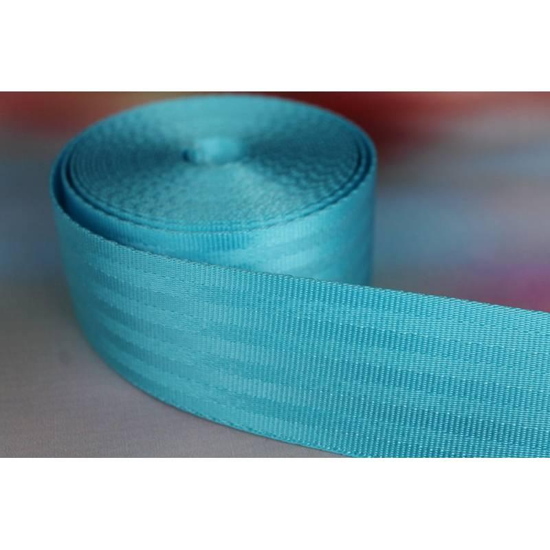 1m Sicherheitsgurtband, 38mm breit, türkis Bild 1