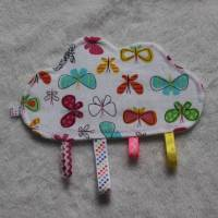 Knistertuch / Knisterwolke - bunte Schmetterlinge Bild 1