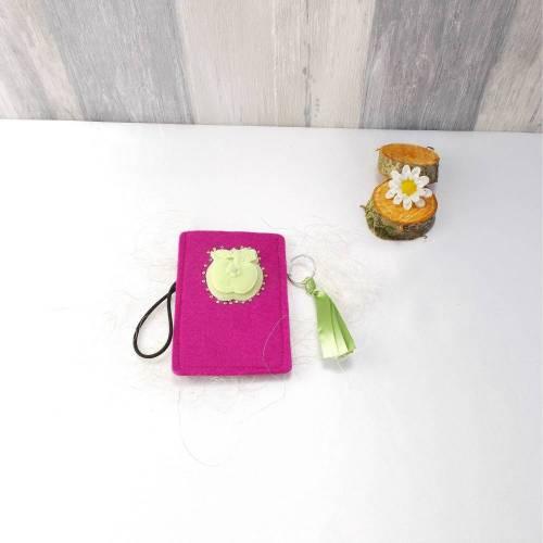 Täschchen,Handytasche,Brillenetui,Mäppchen,Kleines Täschchen,Apfel 2,pink