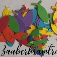 Regenbogen Fisch Konfetti für Deko und Basteln zur Taufe, Konfirmation, Kommunion Bild 3
