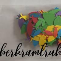Regenbogen Fisch Konfetti für Deko und Basteln zur Taufe, Konfirmation, Kommunion Bild 4