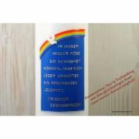 Taufspruch Regenbogen mit Taube - Zusatzoption Bild 1