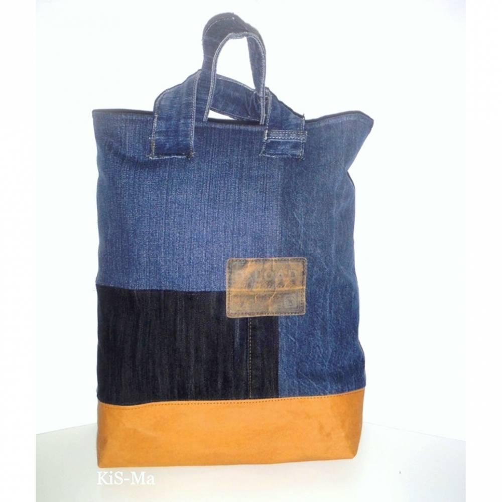 Handtasche, Shopper Jeans Upcycling Bild 1