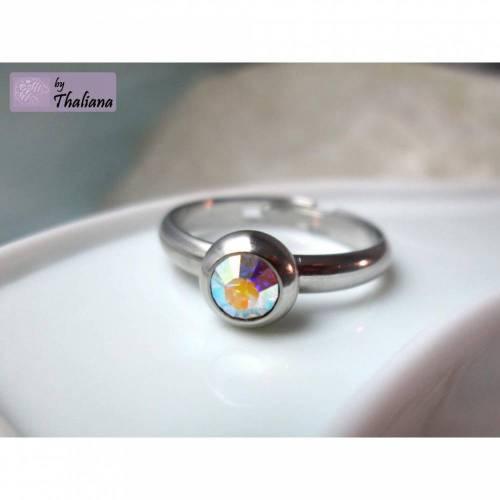 Ring MINI Regenbogendiamant Glitzer Fingerring