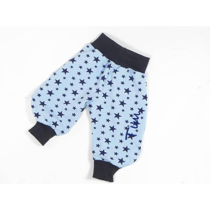 Babyhose Pumphose mit Namen Sterne blau Bild 1