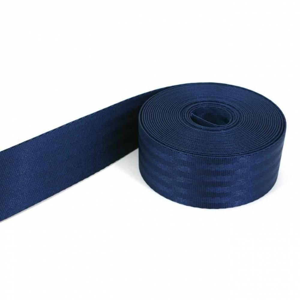 1m Sicherheitsgurtband, 38mm breit, dunkelblau Bild 1