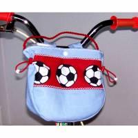 Lenkertasche,  Laufradtasche, Kindergartentasche, Fußballer-Tasche, Fahrradtasche, Kinder-Fahrradtasche, Kindertasche fürs Fahrrad Bild 1