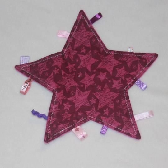 Knistertuch / Knisterstern - lila / violette Sterne Bild 1