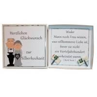 Geldgeschenk zur Silberhochzeit, 25 Jahre, Hochzeitsgeschenk, Geschenk Hochzeitstag, Geschenkbox, Geschenk Hochzeit, Bild 1