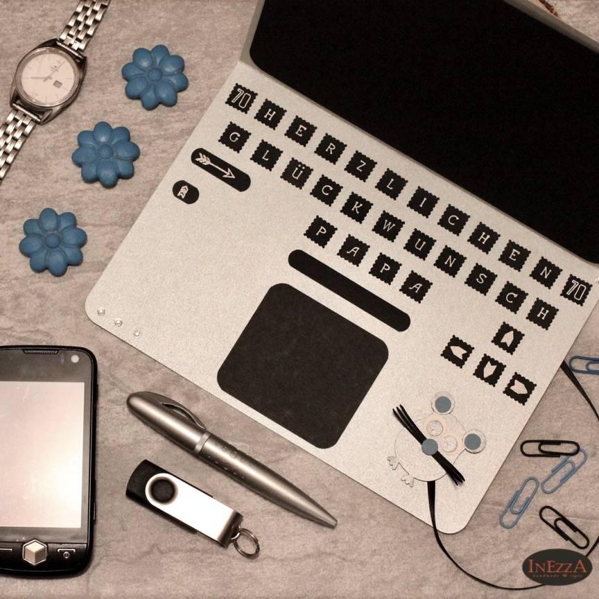 Geldgeschenk Laptop Gutschein Notebook PC große Karte Geschenkverpackung Bild 1