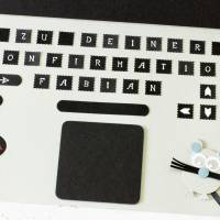 Geldgeschenk Laptop Gutschein Notebook PC große Karte Geschenkverpackung Bild 6