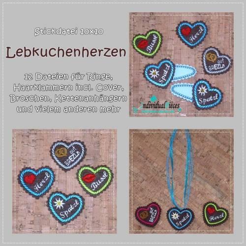 Set LEBKUCHENHERZ 10x10