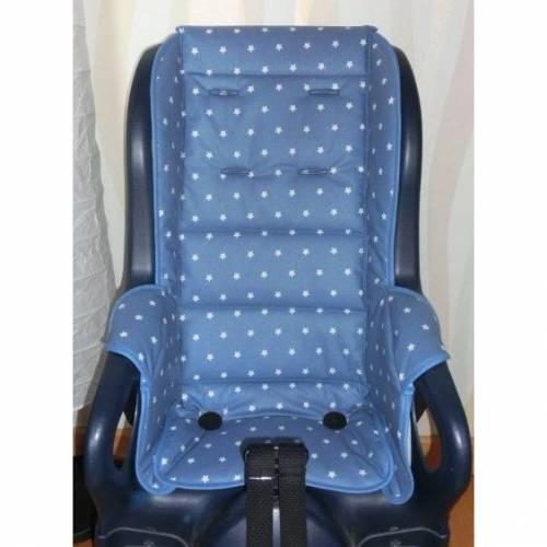 ERSATZBEZUG Auflage wasserabweisend für Fahrradsitz Jockey Relax Sterne blau Polster aus Baumwolle