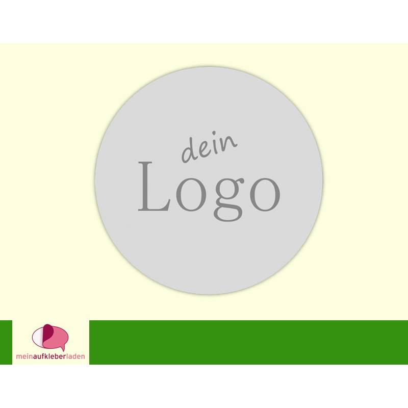 DIY - Aufkleber | Logo - personalisierbar mit Deinem Logo - Handmade Etiketten Bild 1