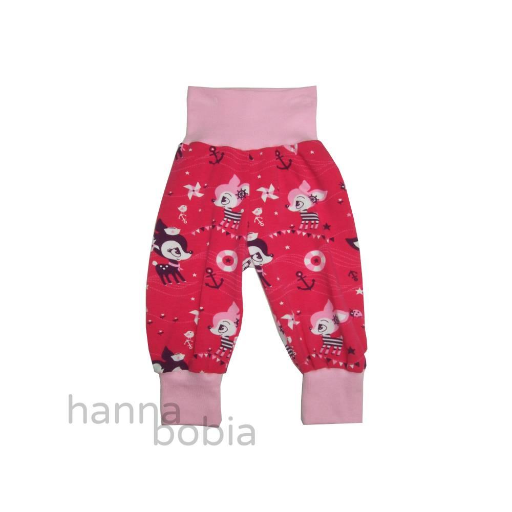 Babyhose, Pumphose, Größe 68, Hafenkitze auf pink Bild 1