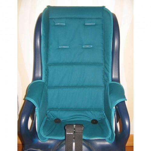 ERSATZBEZUG Auflage Polster für Fahrradsitz Jockey Relax petrol Fahrradsitzbezug aus Baumwolle