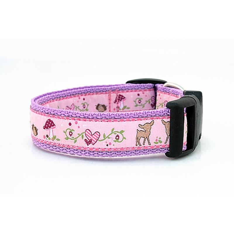 Welpenhalsband Rehlein Melli ohne Unterfütterung (größere Verstellbarkeit) aus der Halsbandmanufaktur von dogs & paw Bild 1