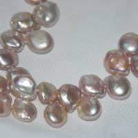 Zartrosa Perlenkette aus buschigen Keshiperlen, bester Glanz Bild 2
