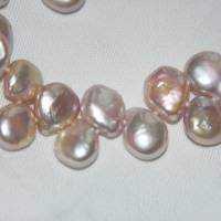 Zartrosa Perlenkette aus buschigen Keshiperlen, bester Glanz Bild 5