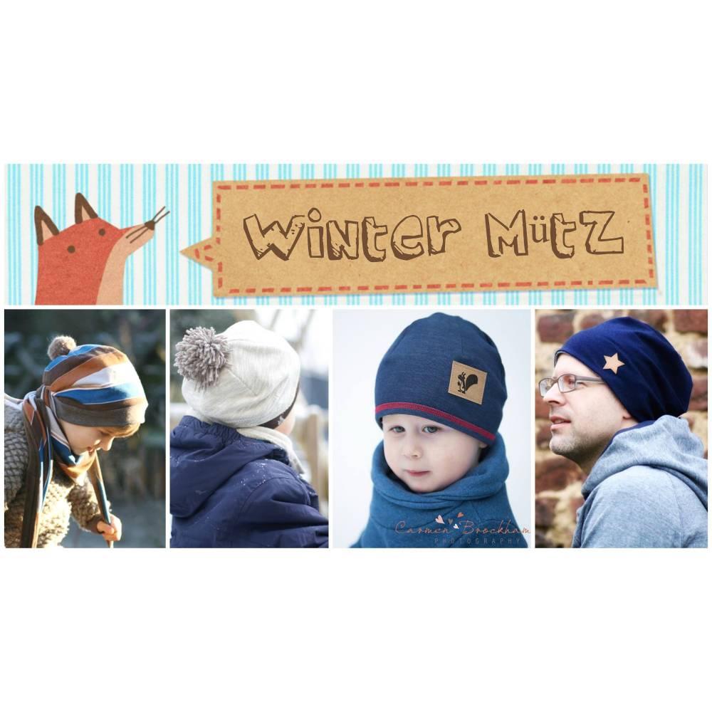 E-Book/Anleitung Winter Mütz - für Groß und Klein Bild 1