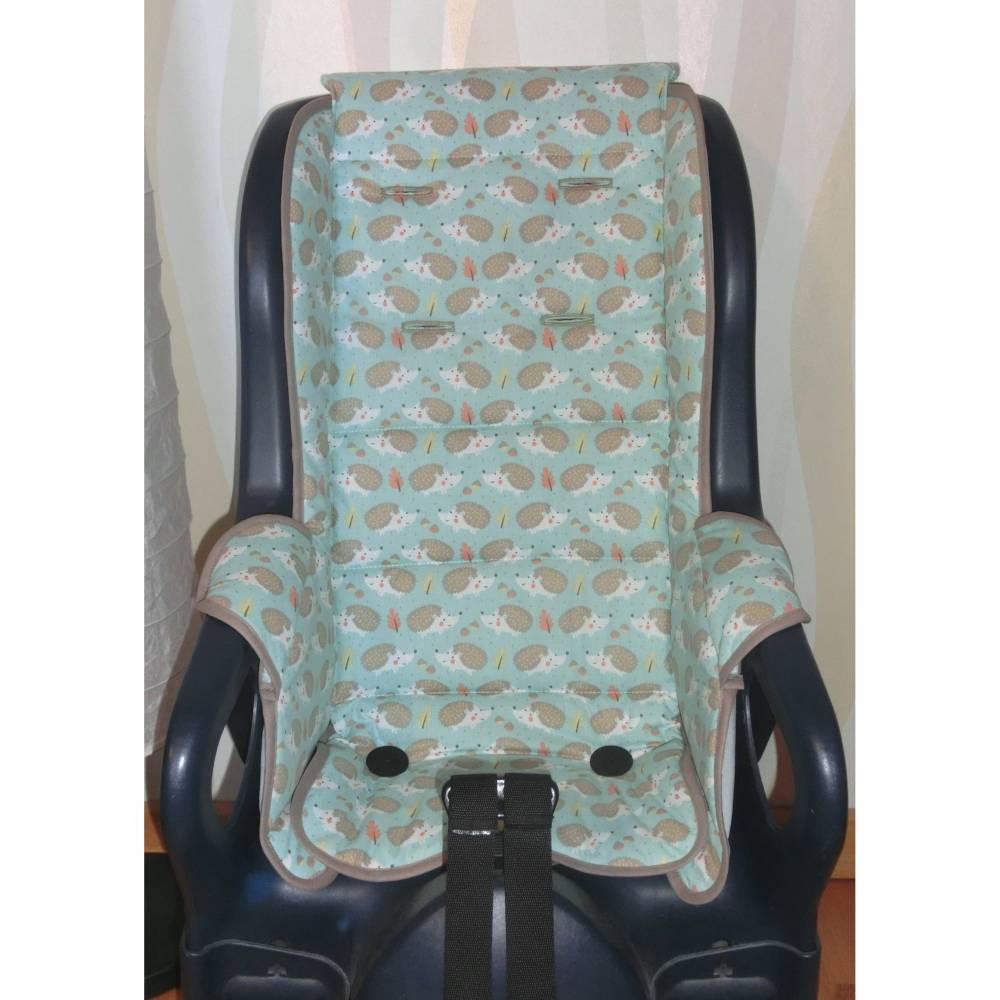ERSATZBEZUG Auflage für Fahrradsitz Jockey Relax Igel blau Fahrradsitzbezug aus Baumwolle Bild 1
