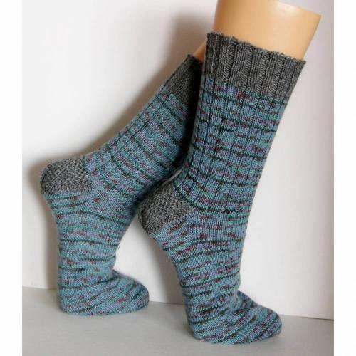 Herrensocken Männersocken, Wunschgröße, grau-grün, Ringelsocfken Männer, Mulitcolor Männer-Socken, handgestrickte Socken Männer, Wollsocken Männer, Socken,