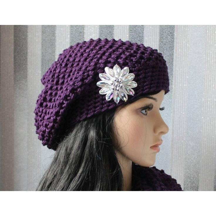 """Beanie,Boho,Vintage Style  """" Lady  in Violett """" Bild 1"""