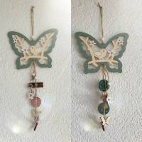 Schmetterling Deko Hänger * verschieden Farben * Upcycling Bild 1