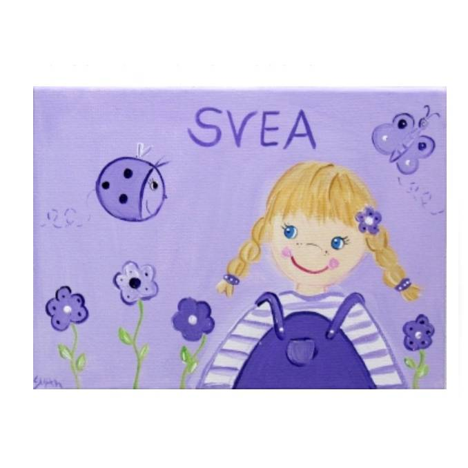 """Türschild Kinderzimmer """" kleines Blumenmädchen """" Bild 1"""